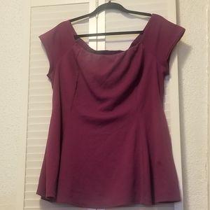 Shirt, off shoulder peplum